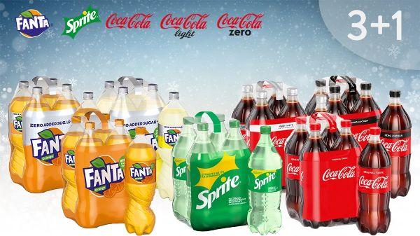 Coca-Cola/Fanta/Sprite 3+1 Deal