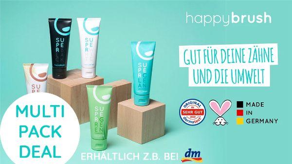 happybrush Zahnpasta Multipack Deal
