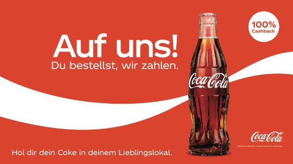 100% auf Coca-Cola im Lieblingslokal