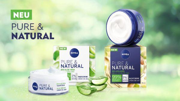 NIVEA Pure & Natural Tagescreme & Nachtpflege