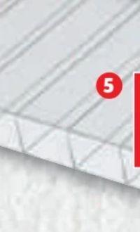 PC-Hohlkammerplatte Klar