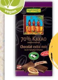 Edelbitter Schokolade von Rapunzel