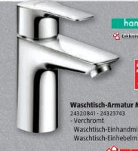 Waschtischarmatur MySport von Hansgrohe