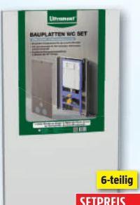 Bauplatten-WC-Set von Ultrament
