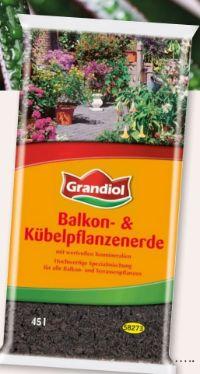 Balkon-Kübelpflanzenerde von Grandiol