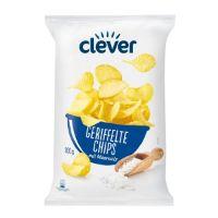 Geriffelte Chips Salz von Clever