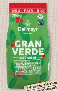 Bio Kaffee Granverde von Dallmayr