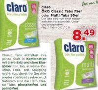 Geschirrreiniger Tabs Öko von Claro