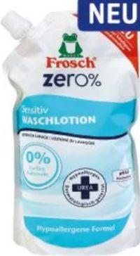 Waschlotion zero% Sensitiv Nachfüllbeutel von Frosch