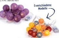 LED-Textilkugel-Lichterkette
