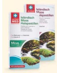 Isländisch Moos Halspastillen von Active Med
