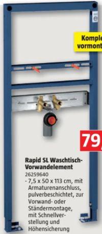 Rapid SL Projekt Waschtisch-Vorwandelement von Grohe