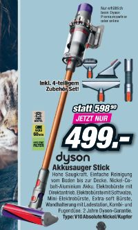 Akkusauger Stick V10 Absolute von Dyson