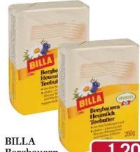 Bergbauern Heumilch Teebutter von Billa