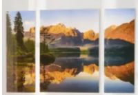 Glasbild Italian Alps Lake von Eurographics