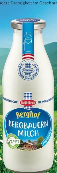 Berghof Bergbauernmilch von Schärdinger
