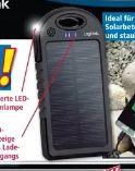 Solar-Powerbank von LogiLink