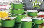 Emaille-Kochtopf Green Star von Casa Royale