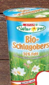 Bio-Schlagobers von Spar Natur pur