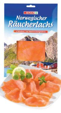 Norwegischer Räucherlachs von Spar