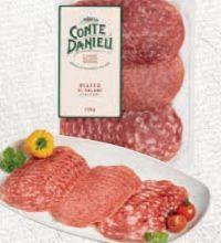 Salami Teller von Conte Danieli