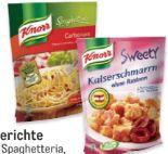 Sweety Fertiggerichte von Knorr