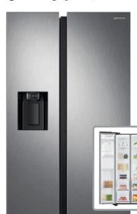 Kühlschrank Side-By-Side RS68N8320S9-EF von Samsung