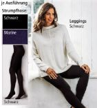 Damen-Thermo-Strick-Strumpfhose-Leggings von Elle Nor