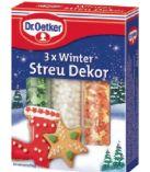 Winter Streu Dekor von Dr. Oetker