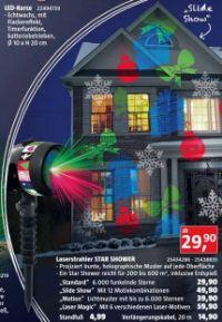 Weihnachts LED-Laserstrahler Star Shower