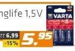 Batterie Mignon AA von Varta