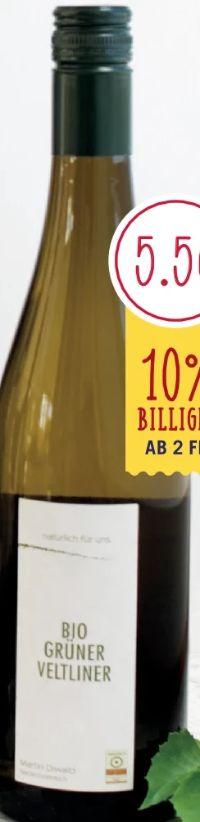 Bio Wein Grüner Veltliner von Natürlich für uns