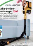 Akku-Zyklon-Staubsauger von Clean Maxx