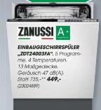 Einbaugeschirrspüler ZDT24003FA von Zanussi