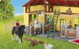 Pferdestall mit Pferden-Zubehör von Schleich
