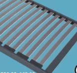 7-Zonen-Rahmenrost Puroline Fix von Optimo