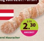 Bio-Wurzelbaguette von Bio-Hofbäckerei Mauracher