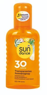 Transparentes Sonnenspray LSF 30 von Sundance