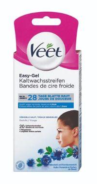 Kaltwachsstreifen Easy-Gelwax Gesicht von Veet