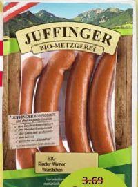 Bio-Frankfurter von Bio Metzgerei Juffinger