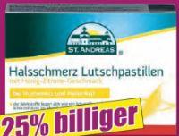 Halsschmerz Lutschpastillen von St. Andreas