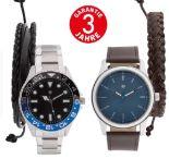 Herren Armbanduhr-Schmuckset von Auriol