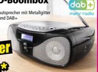 DAB+/CD-Boombox P160 von Dual