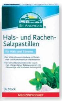 Hals-Rachen Salzpastillen von St. Andreas