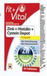 Zink + Histidin + Cystein von Fit+Vital