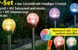 LED-Solarkugel Crashglas von I-Glow