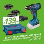 Akku-Bohrschrauber GSR 18-2-LI von Bosch