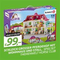 Horse Club Großer Pferdehof mit Wohnhaus und Stall von Schleich