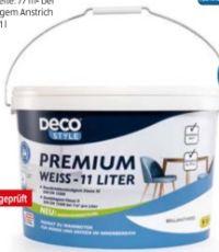 Premiumweiß-Innendispersionsfarbe von Deco Style