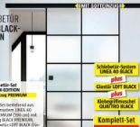 Glasschiebetür-Set Loft Black Edition von Diamond Doors